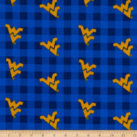 NCAA West Virginia Mountaineers Buffalo Plaid Cotton