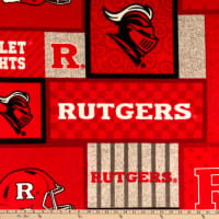 NCAA Rutgers Scarlet Knights Fleece College Patch Red/White/Gray/Black
