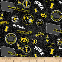 NCAA Iowa Hawkeyes Home State Yellow/Black/White/Grey
