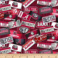 NCAA Alabama Crimson Tide License Plate Cotton Multi