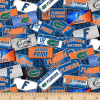 NCAA Florida Gators License Plate Cotton Multi