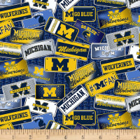 NCAA Michigan Wolverines License Plate Cotton Multi