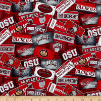 NCAA Ohio State Buckeyes License Plate Cotton Multi