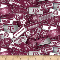NCAA Texas A&M Aggies License Plate Cotton Multi