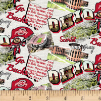 NCAA Ohio State Buckeyes Scenic Map Cotton Multi