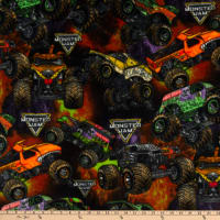 Monster Jam Packed Monster Trucks Fleece