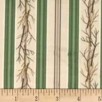 Michael Miller Minky Deerhead Forest Twig Vines Taupe