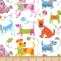 EZ Fabric Minky Puppy Playtime Puppy Playtime Retro