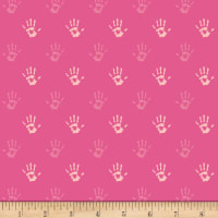 Art Gallery Playroom Jersey Knit Fingerpaint Pink