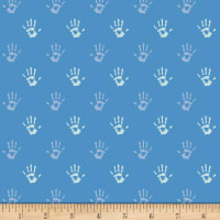Art Gallery Playroom Jersey Knit Fingerpaint Cobalt
