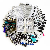 """Art Gallery Special Curated Bundle 18"""" Fat Quarters Black & White 20pcs"""