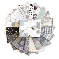 "Art Gallery Special Curated Bundle 18"" Fat Quarters Greyscale 20pcs"