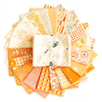 "Art Gallery Special Curated Bundle 18"" Fat Quarters Peach Orange"
