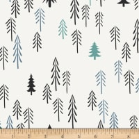 Art Gallery Pine Lullaby Rediscovered Loblolly Pine Black/White/Blue/Teal