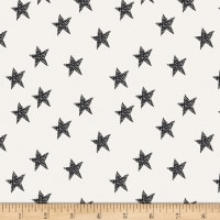 Art Gallery Pine Lullaby Rediscovered Star Glow Black/White