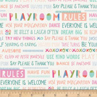 Art Gallery Playroom Playroom Rules Pink/Peach/White/Blue