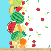 Michael Miller Sew Fruity Sew Fruity Turquoise