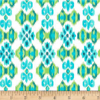 Michael Miller Boho Boutique Small Ikat Aqua