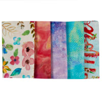 Bloom With Grace Digital Fat Quarter Bundle 5pcs Multi