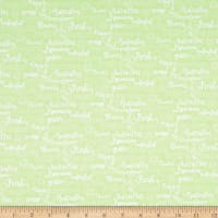 Fabric Editions Hello Spring Fab Text Green