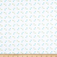 Fabric Editions Hello Spring Fab Tulip Toss White
