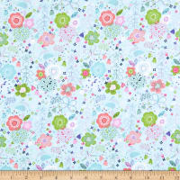 Fabric Editions Hello Spring Fab Garden Turquoise