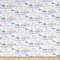Fabric Editions Little Lion Words White