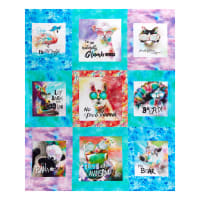 "Sassier Animals Digital Large 24"" Panel Multi"