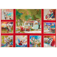 """The Great Outdoors Digital 36"""" Panel Red"""