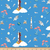 Riley Blake Designs Apollo 11 Outer Space Blue