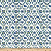 Liberty Fabrics Summer House Kew Trellis Blue