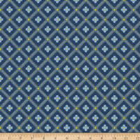 Liberty Fabrics Summer House Manor Tile Navy