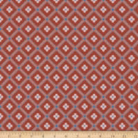 Liberty Fabrics Summer House Manor Tile Red