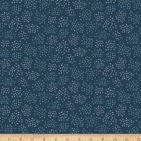 Riley Blake In The Forest Cluster Dots Navy