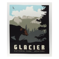 "Riley Blake National Parks Glacier 36"" Panel Multi"