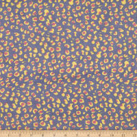 Silk Chiffon Abstract Cheetah Navy