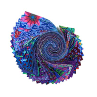 "Kaffe Fassett Collective Classics Design 2.5"" Strips Peacock 40 pcs"