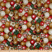 Shannon Hoffman Digital Minky Cuddle Ornaments Gold