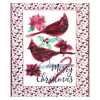 Shannon Studio Digital Minky Cuddle Merry Merlot
