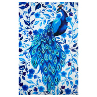 "Shannon Studio Digital Minky Cuddle 36"" Panel Peacock Party Royal"