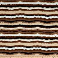 Liverpool Double Stretch Knit Sunset Stripes Mocha
