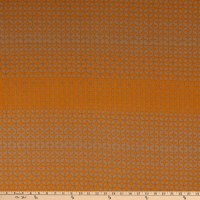 Liverpool Double Knit Descending Floral Star Tan/Mustard