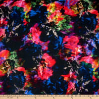 Milly Abstract Floral Printed Viscose Stretch Multi
