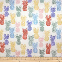 Trans-Pacific Textiles Playful Pineapple Row Beige
