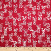 Trans-Pacific Textiles Playful Pineapple Row New Red