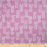 Trans-Pacific Textiles Playful Pineapple Row Pink
