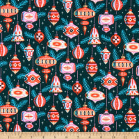 Cloud9 Fabrics Organic Tinsel Shiny & Bright Green/Red/Multi