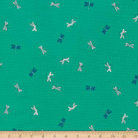 Cloud9 Fabrics Organic Natural Beauty Drayton Dragonflies Green