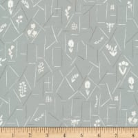 Cloud9 Fabrics Organic A House In Bloom Belle Gray