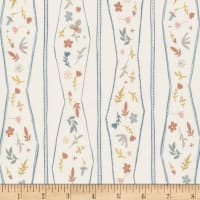 Cloud9 Fabrics Organic A House In Bloom Lydia Ivory/Multi